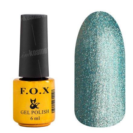 F.O.X, Гель-лак - Platinum 006 (6 ml.)F.O.X<br>Гель-лак стальной светло-бирюзовый, с микроблеском, плотный<br>
