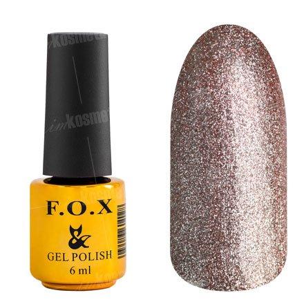 F.O.X, Гель-лак - Platinum 007 (6 ml.)F.O.X<br>Гель-лак стальной розово-оранжевый, с микроблеском, плотный<br>