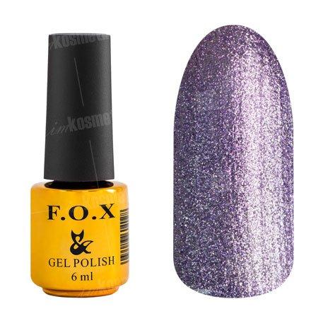 F.O.X, Гель-лак - Platinum 008 (6 ml.)F.O.X<br>Гель-лак стальной фиолетовый, с микроблеском, плотный<br>