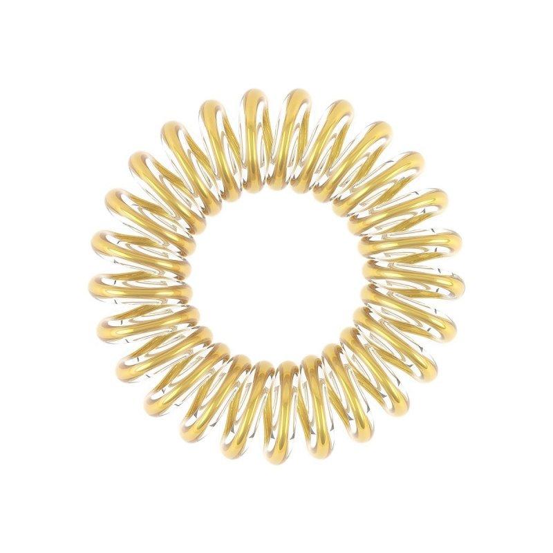 Invisibobble, Резинка-браслет для волос - Time To Shine Youre GoldenРезинка-браслет Invisibobble<br>Резинки для волос Invisibobble прозрачно-золотого цвета(3 шт.)<br>