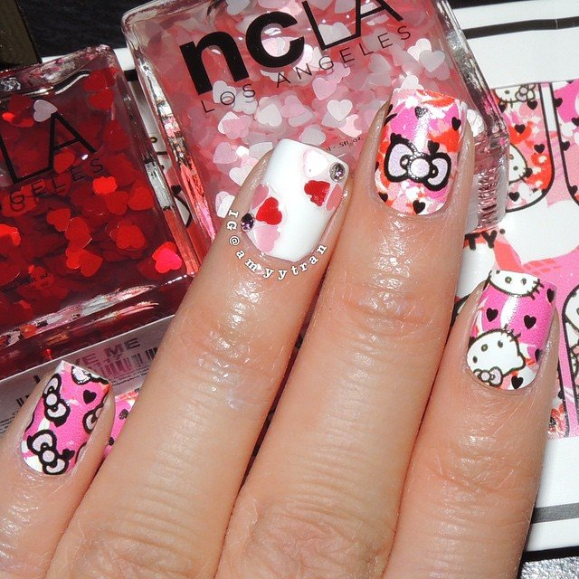 NCLA, Термопленка Hello Kitty Be Mine ValentineАрт-стикеры NCLA<br><br>