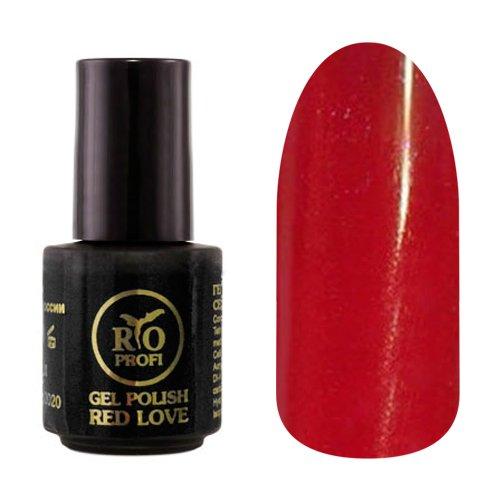 Rio Profi, Каучуковый гель-лак - Red Love №01 (3,5 мл.)Rio Profi<br>Гель-лак каучуковый, бордовый, глянцевый, плотный<br>