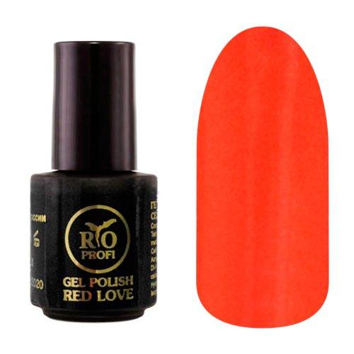Rio Profi, Каучуковый гель-лак - Red Love №09 (3,5 мл.)Rio Profi<br>Гель-лак каучуковый, красный, глянцевый, плотный<br>
