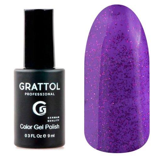 Grattol, Гель-лак Luxury Stones - Amethyst №01Grattol<br>Гель лак фиолетовый, с блестками, плотный<br>