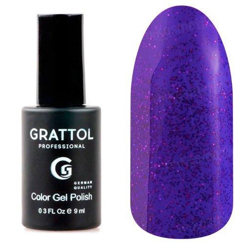 Grattol, Гель-лак Luxury Stones - Amethyst №02Grattol<br>Гель лак сине-фиолетовый, с блестками, плотный<br>