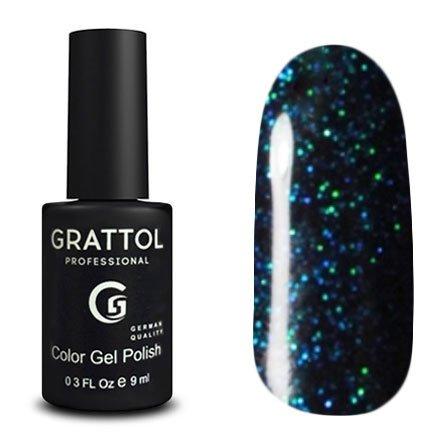 Grattol, Гель-лак Luxury Stones - Diamond №06 (9 мл.)Grattol<br>Гель лак бирюзовый,с блестками, плотный<br>