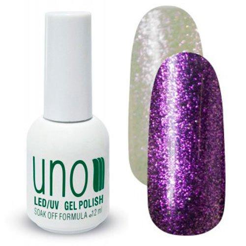 Uno, Гель-лак - Kristall 04 (12мл.)Uno <br>Гель лак,полупрозрачный,с большим количеством мерцающих частиц розового цвета.<br>