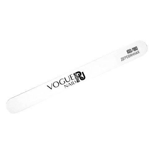 Vogue Nails, Пилка профессиональная, узкая и деревянная 100/180Пилки для искусственных ногтей<br>Профессиональная пилка для искусственных ногтей<br>