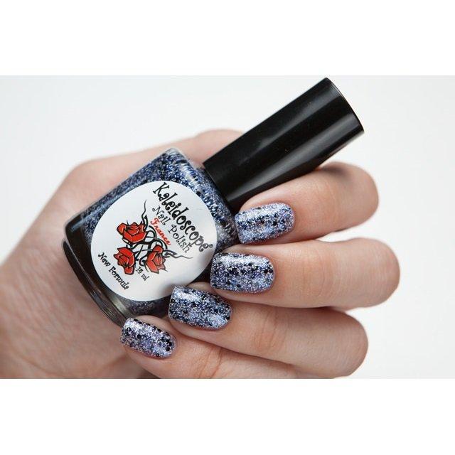 El Corazon, Kaleidoscope Кружева и пайетки № 11Лаки Kaleidoscope<br>Лак для ногтей прозрачный, с мелкими синими, белыми блестками и крупнымичерными.14 ml.<br>