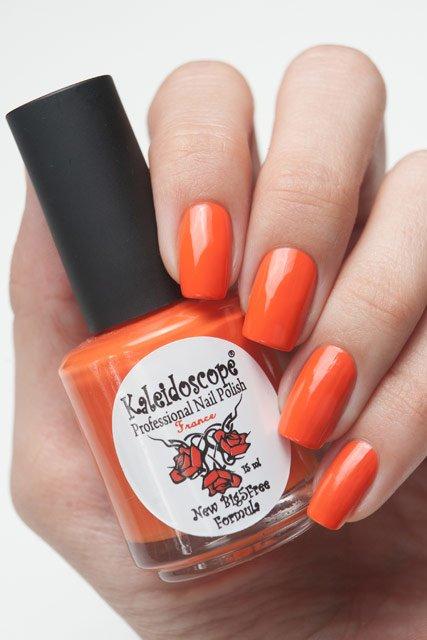 El Corazon, Kaleidoscope Красотека № 01Лаки Kaleidoscope<br>Лак «Хэллоуин».Кораллово-оранжевый с лёгким персиковым отливом,без блесток и перламутра.Объем 15 ml.<br>
