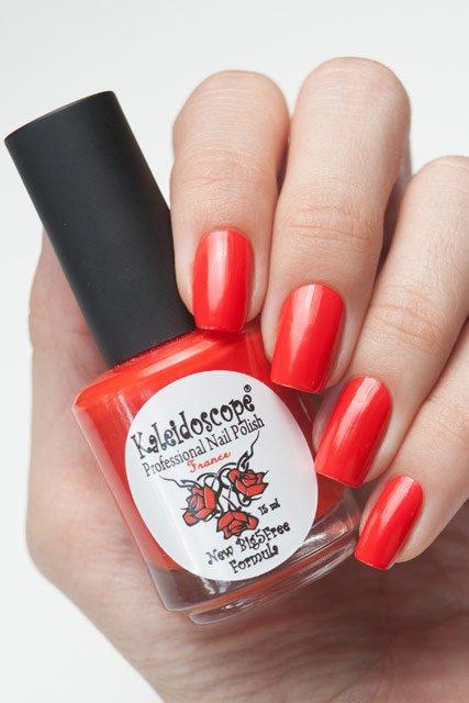El Corazon, Kaleidoscope Красотека № 04Лаки Kaleidoscope<br>Лак «Девушка в красном». Яркий алый,плотный,без блесток и перламутра.Объем 15ml.<br>