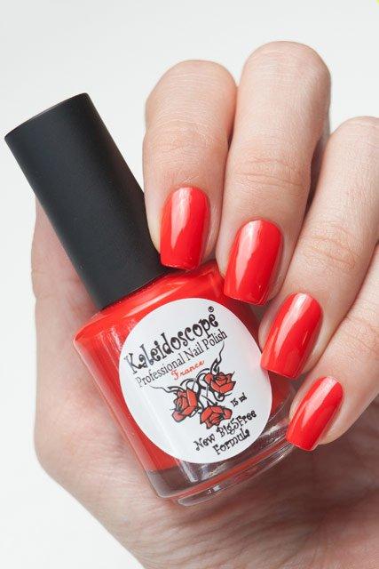 El Corazon, Kaleidoscope Красотека № 05Лаки Kaleidoscope<br>Лак «Мулен Руж».Кораллово-красный, насыщенный, плотный,без блесток и перламутра.Объем 15ml.<br>