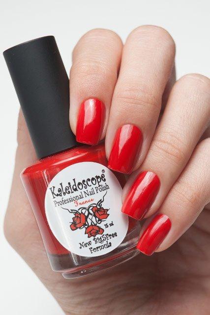 El Corazon, Kaleidoscope Красотека № 08Лаки Kaleidoscope<br>Лак «Роковая женщина». Приглушённый красно-оранжевый лак с рыжеватым кирпичным оттенком,плотный,без блесток и перламутра.Объем 15ml.<br>