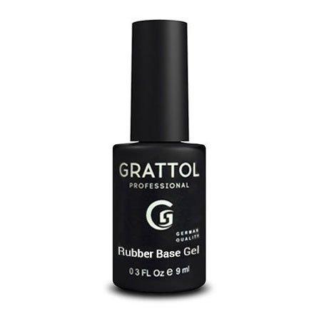 Grattol, Экстра густая каучуковая база - Rubber Base Gel (9 мл.)Grattol<br>Каучуковая густая база, идеально выравнивающая ногтевую пластину<br>