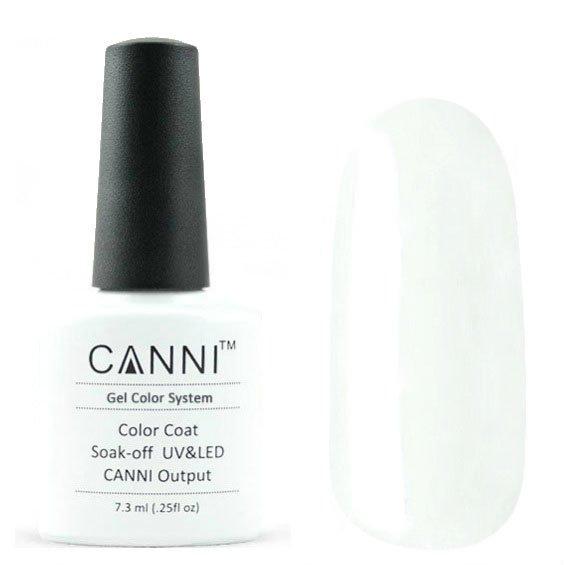 Canni, Гель-лак №239 (7.3 мл)Canni<br>Гель-лак мягкий белый, без перламутра, плотный, подойдет для французского маникюра<br>