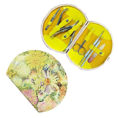 Staleks, Набор маникюрный - Рамка профессиональная НМ-07-1 (7 предметов, феерия желтый - 59)Маникюрные наборы<br>Набор маникюрный - Рамка профессиональная (феерия желтый)<br>