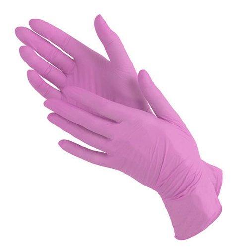 Benovy, Перчатки нитриловые, розовые (размер XS, 100 шт. в уп.)Перчатки<br>Перчатки нитриловые смотровые неопудренные BENOVY<br>