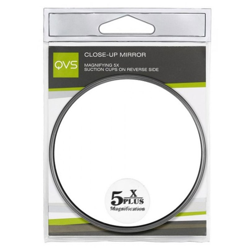 QVS, Зеркало для макияжа 5-кратного увеличения с силиконовыми крепителями (10-2050)Сопутствующие материалы<br>Зеркало для макияжа 5-кратного увеличения с силиконовыми крепителями<br>