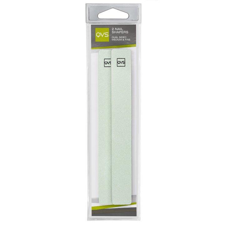 QVS, Пилочки для ногтей водоустойчивые, двусторонние, 2 шт. в уп. (10-1121)Пилки для натуральных ногтей<br>Пилочки для ногтей водоустойчивые, двусторонние средне- и тонкозернистые с мягкими прокладками, 2 шт/уп.<br>