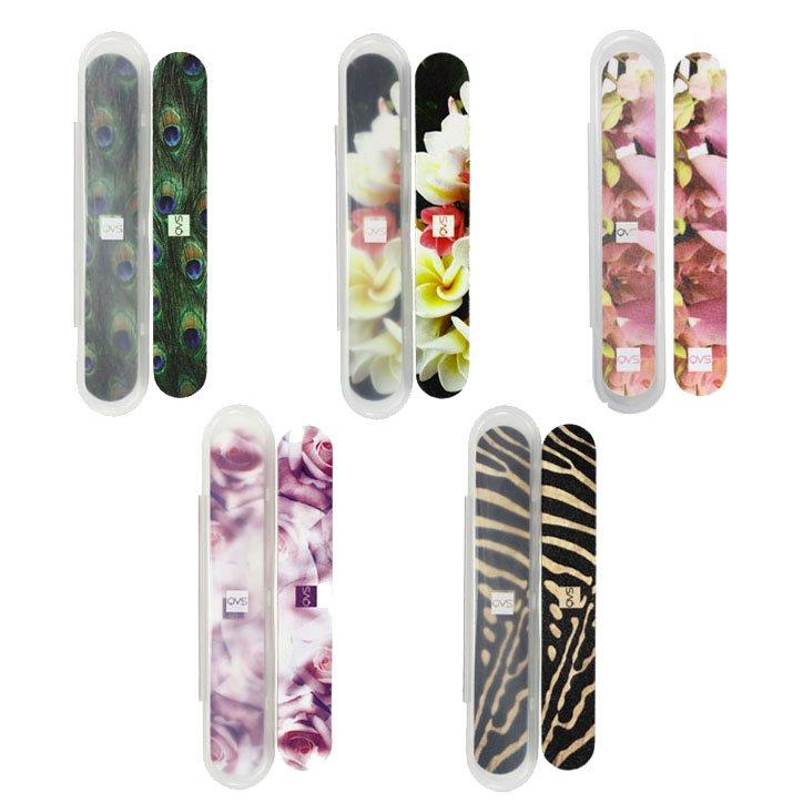 QVS, Пилочки для ногтей в футляре, 2шт. в уп., (10-1267)Пилки для натуральных ногтей<br>Пилочки для ногтей в футляре, 2шт. в уп., вассортименте<br>