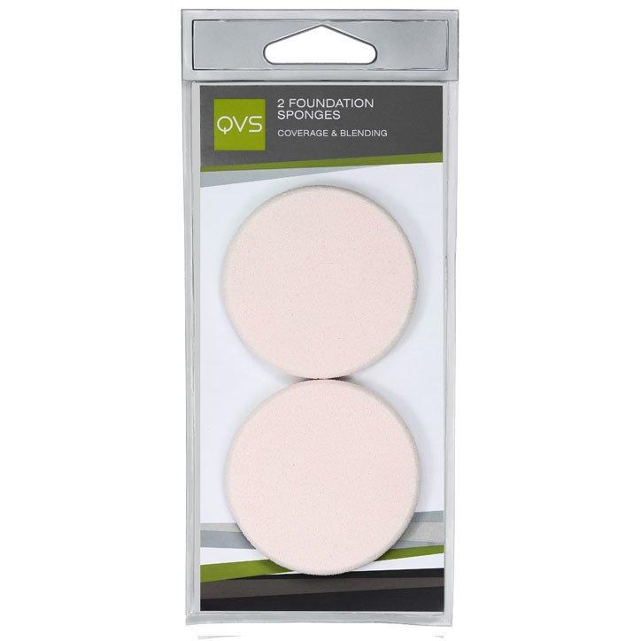 QVS, Спонжи круглые для нанесения основы макияжа любого типа, 2шт. (10-1069)Спонжи для макияжа<br>Спонжи круглые для нанесения основы макияжа любого типа (кремообразной и водной)<br>