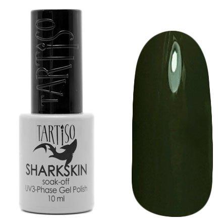 Tartiso, Гель-лак - SHARKSKIN TSHN-02 (10 мл.)Tartiso <br>Гель-лак, темный серо-болотный, глянцевый, без блесток и перламутра, плотный<br>