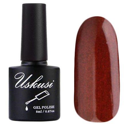 Uskusi, Гель-лак №122 (8 мл.)Uskusi<br>Гель-лак коричнево-красный, с перламутром, плотный<br>