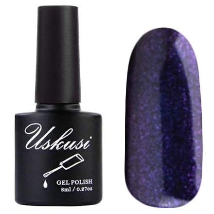 Uskusi, Гель-лак №125 (8 мл.)Uskusi<br>Гель-лак сине-фиолетовый, с блестками, плотный<br>
