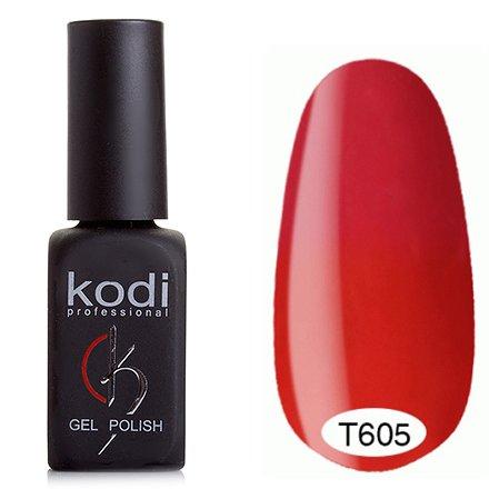 Kodi, Термо гель-лак № Т605 (8 ml)Kodi Professional <br>Гель-лакярко-красный/ярко-розовый, без блесток и перламутра, полупрозрачный.<br>