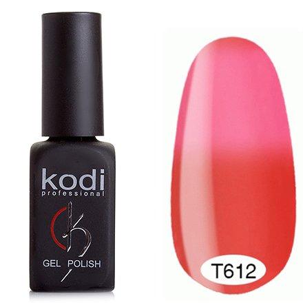 Kodi, Термо гель-лак № Т612 (8 ml)Kodi Professional <br>Гель-лаккоралловый/светло-розовый, барби цвет, без блесток и перламутра, плотный.<br>