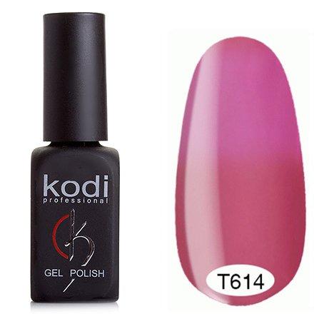 Kodi, Термо гель-лак № Т614 (8 ml)Kodi Professional <br>Гель-лакнасыщенный розово-лиловый/светло-лиловый, без блесток и перламутра, плотный.<br>