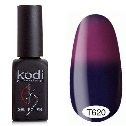 Kodi, Термо гель-лак № Т620 (8 ml)Kodi Professional <br>Гель-лактемно-сапфировый/темная фуксия, без блесток и перламутра, плотный.<br>