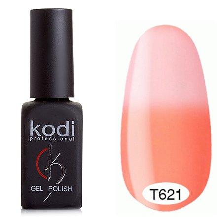 Kodi, Термо гель-лак № Т621 (8 ml)Kodi Professional <br>Гель-лаккораллово-персиковый/пастельно-розовый, без блесток и перламутра, плотный.<br>