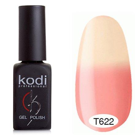 Kodi, Термо гель-лак № Т622 (8 ml)Kodi Professional <br>Гель-лактеплый розовый/светлый молочно-персиковый, без блесток и перламутра, плотный.<br>