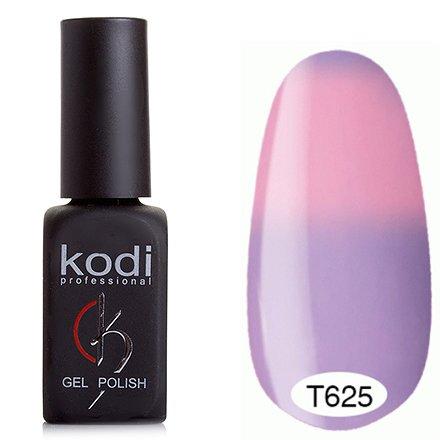 Kodi, Термо гель-лак № Т625 (8 ml)Kodi Professional <br>Гель-лакнежно-сиреневый/нежно-розовый, без блесток и перламутра, плотный.<br>