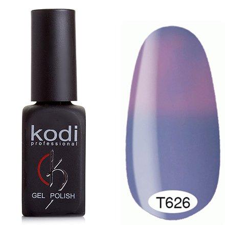 Kodi, Термо гель-лак № Т626 (8 ml)Kodi Professional <br>Гель-лакхолодный сиреневый/светлый розово-сиреневый, без блесток и перламутра, плотный.<br>