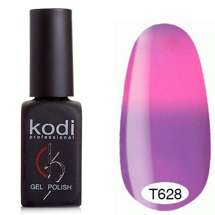 Kodi, Термо гель-лак № Т628 (8 ml)Kodi Professional <br>Гель-лаксиренево-розовый/насыщенно-розовый, без блесток и перламутра, плотный.<br>