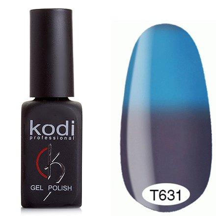 Kodi, Термо гель-лак № Т631 (8 ml)Kodi Professional <br>Гель-лаксеро-сиреневый/насыщенный небесно-голубой, без блесток и перламутра, плотный.<br>