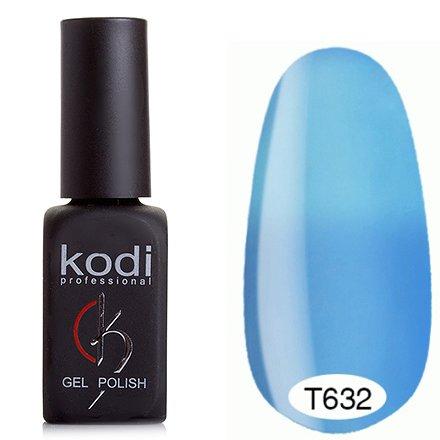 Kodi, Термо гель-лак № Т632 (8 ml)Kodi Professional <br>Гель-лаксветло-васильковый/пастельно-голубой, без блесток и перламутра, плотный.<br>