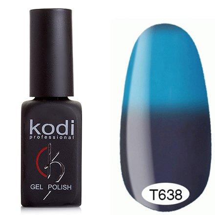 Kodi, Термо гель-лак № Т638 (8 ml)Kodi Professional <br>Гель-лактёмный серо-сиреневый/небесно-голубой, без блесток и перламутра, плотный.<br>