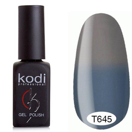 Kodi, Термо гель-лак № Т645 (8 ml)Kodi Professional <br>Гель-лаксерый с голубым подтоном/светло-серый, без блесток и перламутра, плотный.<br>