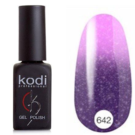 Kodi, Термо гель-лак № Т642 (8 ml)Kodi Professional <br>Гель-лактемно-сиреневый/светло-сиреневый перламутровый с мелкими голографическими блестками, полупрозрачный.<br>