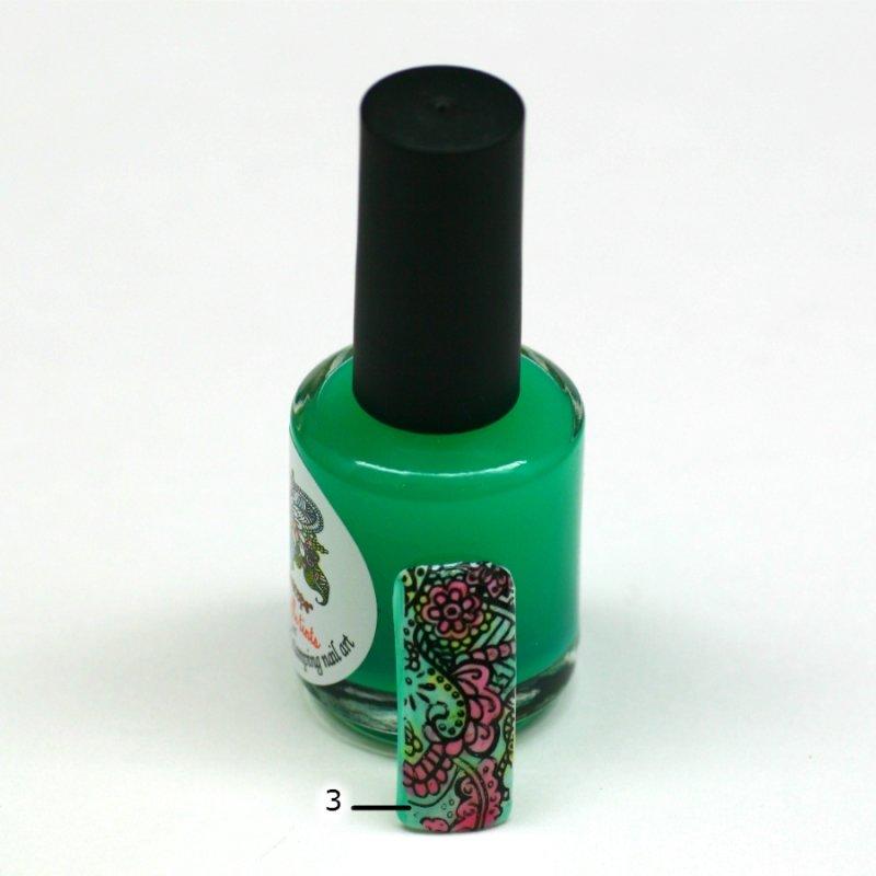 El Corazon Aquarelle tints, № 03Лаки Kaleidoscope<br>Зеленый,полупрозрачнй,без блесток и перламутра.Объем 15 ml.<br>