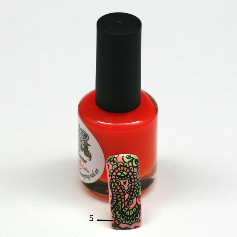 El Corazon Aquarelle tints, № 05Лаки Kaleidoscope<br>Неоново-оранжевый,полупрозрачнй,без блесток и перламутра.Объем 15 ml.<br>
