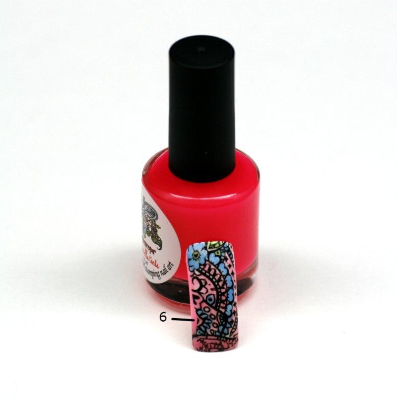 El Corazon Aquarelle tints, № 06Лаки Kaleidoscope<br>Неоново-розовый,полупрозрачнй,без блесток и перламутра.Объем 15 ml.<br>