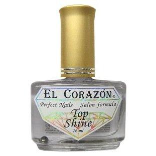 El Corazon Top Shine, № 410Лечебный биогель El Corazon<br>Кристальный блеск, верхнее покрытие. 15ml.<br>