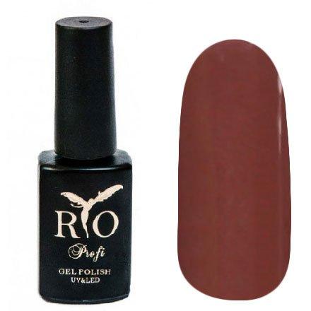 Rio Profi, Гель-лак каучуковый - Манящий Поцелуй №172 (7 мл.)Rio Profi<br>Гель-лак каучуковый, теплый шоколад, плотный<br>