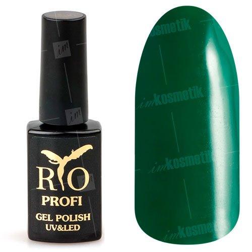 Rio Profi, Гель-лак каучуковый - Ирландский Шемрок №182 (7 мл.)Rio Profi<br>Гель-лак каучуковый, зеленый, плотный<br>