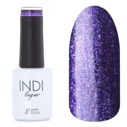 ruNail, INDI laque - Гель-лак №3098 (9 мл.)ruNail<br>Гель-лак темно-фиолетовый, с блестками, плотный<br>