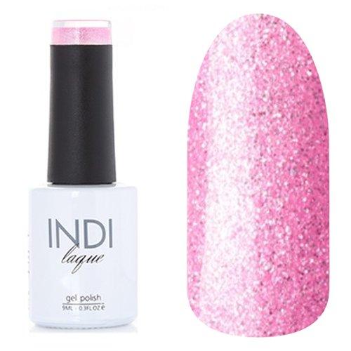 ruNail, INDI laque - Гель-лак №3105 (9 мл.)ruNail<br>Гель-лак розовый, с блестками, плотный<br>